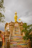 Buddha Wat Phra That Pha Kaew On The Day Has Cloudy Day,phetchabun ,thailand
