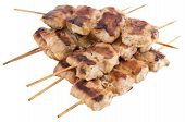 Grilled Sticks isolated on white background