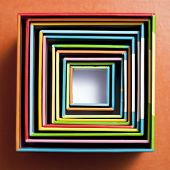Square paper box, a top view