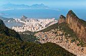 image of ipanema  - Beautiful Rio de Janeiro City View with Mountains - JPG