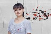 Young Woman Wearing Martisor