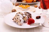 Christmas Stollen Cake With Mulled Wine