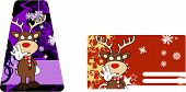 reindeer cartoon stop giftcard