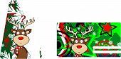 reindeer cartoon christmas card