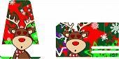 inlove reindeer cartoon giftcard