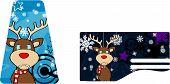 xmas reindeer cartoon card