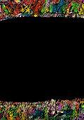 Colorful Frame Image Isolated On Black Background