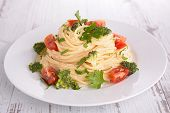 spaghetti with vegetables