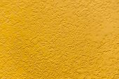Yellow Paint Rough Metal