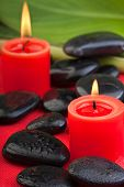 Hotstones With Red Candles