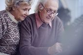 Elderly couple spending leisure together