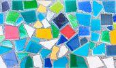 Colorful Trencadis Broken Tiles Mosaic.