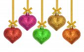 Glitter Christmas Decoration Ball Heart Shape