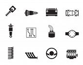 picture of differential  - Silhouette Realistic Car Parts and Services icons  - JPG