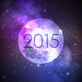 happy new 2015 year. abstract vector background with night sky and stars. illustration of outer spac
