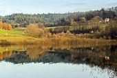 Solina Lake at autumn, Bieszczady, Poland