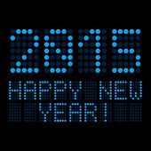 Display - 2015 Happy New Year - Blue