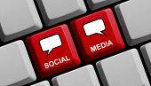 Computer Keyboard Social Media