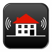 Black Button House alarm