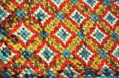 Glass Color Mosaic Pattern Style