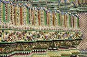 Tile Mosaic Pillar Asian Style