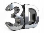 Metallic 3D Logo With Reflection.