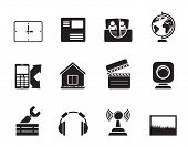 Silhouette Mobile phone and computer icons