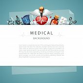 Blue Medical Background with Copy Space