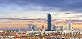 Skyline Of The Danube City - Vienna