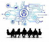 Vector of Business People Meeting