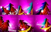 picture of merry chrismas  - Set of colorful bright Chrismas card - JPG