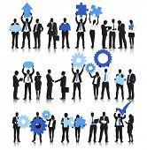 Vector of Business People Holding Business Objects