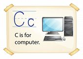 Poster of an alphabet C