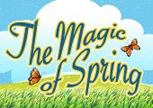 The magic of spring template