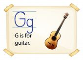 Poster of an alphabet G