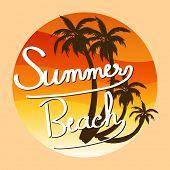 A summer template at the beach