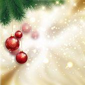 Decorative Christmas bauble background