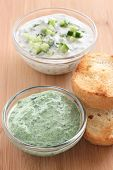 cucumber and spinach dip