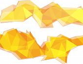 Light Yellow And Orange Polygon Abstract Background