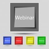Webinar Web Camera Sign Icon