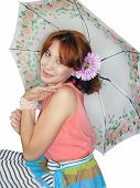 beautiful girl with umbrella