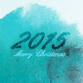 Merry Christmas 2015 creative poster design. holiday illustration with hand-drawn marker numbers on