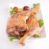 grilled duck leg