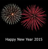 Fireworks And Happy New Year 2015