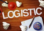 Logistic Desktop Memo Calculator Office Think Organize