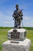 Statue Of Union Soldier At Gettysburg
