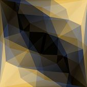 Abstract Geometric Gold And Black Vector Background