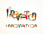 Innovation word concept, minimal line design