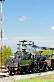 pic of former yugoslavia  - steam locomotive in Tuzla region - JPG