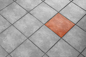stock photo of ceramic tile  - floor from tiles mosaic in saarland germany - JPG